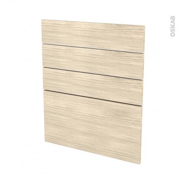 Façades de cuisine - 4 tiroirs N°59 - STILO Noyer Blanchi - L60 x H70 cm