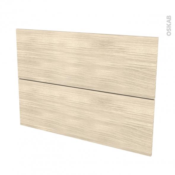 Façades de cuisine - 2 tiroirs N°61 - STILO Noyer Blanchi - L100 x H70 cm