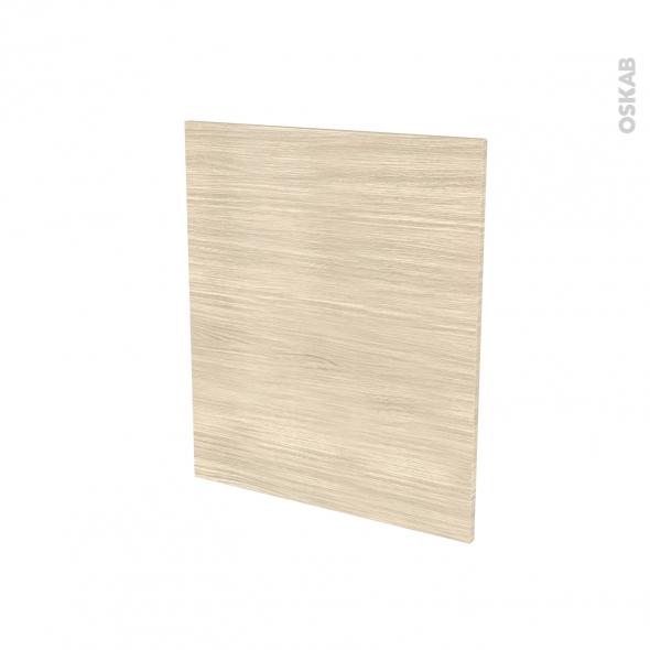 Porte lave vaiselle - Full intégrable N°21 - STILO Noyer Blanchi - L60 x H70 cm