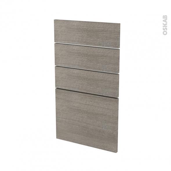 Façades de cuisine - 4 tiroirs N°53 - STILO Noyer Naturel - L40 x H70 cm