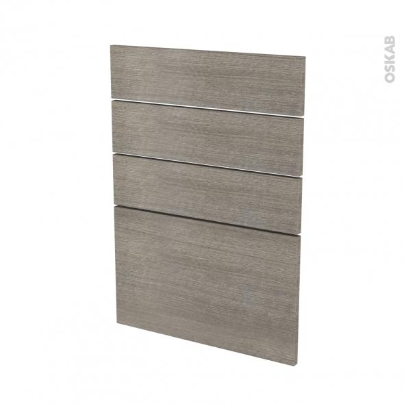 Façades de cuisine - 4 tiroirs N°55 - STILO Noyer Naturel - L50 x H70 cm