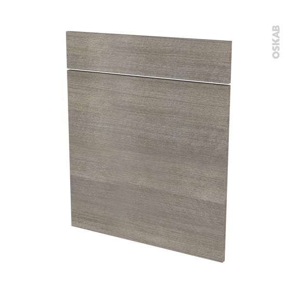Façades de cuisine - 1 porte 1 tiroir N°56 - STILO Noyer Naturel - L60 x H70 cm
