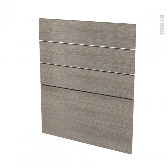 Façades de cuisine - 4 tiroirs N°59 - STILO Noyer Naturel - L60 x H70 cm
