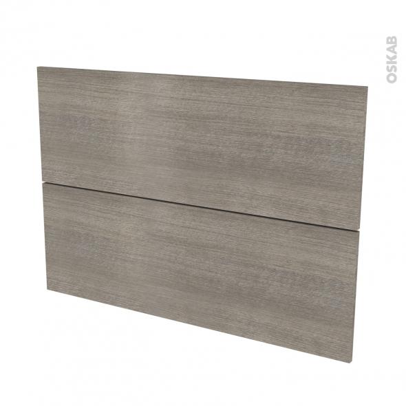 Façades de cuisine - 2 tiroirs N°61 - STILO Noyer Naturel - L100 x H70 cm