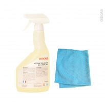 Nettoyant - Inox / Alu / Chromé - Avec microfibre - SOKLEO