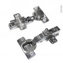 SOKLEO - Charnières 110° Lot de 2 - Clipsables - Système frein intégré