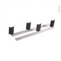 Rail en aluminium pour tiroir sous plinthe