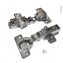 SOKLEO - Charnières 110° Lot de 2 - Porte alu - Clipsables - Système frein intégré