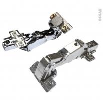 SOKLEO - Charnières 165° Lot de 2 - Clipsables - Système frein intégré