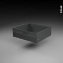 Casserolier à l'anglaise - pour meuble de cuisine - Freiné/sortie totale - L60 x H18 x P50 cm - SOKLEO
