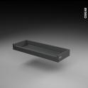 Tiroir à l'anglaise - pour meuble de cuisine - Freiné/faible profondeur - L80 x H8 x P27 cm - SOKLEO