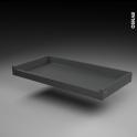 Tiroir à l'anglaise - pour meuble de cuisine - Freiné/sortie totale - L100 x H8 x P50 cm - SOKLEO