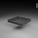 Tiroir à l'anglaise - pour meuble de cuisine - Freiné/sortie totale - L60 x H8 x P50 cm - SOKLEO