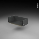 Tiroir casserolier - pour meuble de cusine - Freiné/faible profondeur - L60 x H18 x P27 cm - SOKLEO