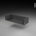 Tiroir casserolier - pour meuble de cuisin - Freiné/faible profondeur - L80 x H17 x P27 cm - SOKLEO