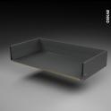 Tiroir casserolier - pour meuble de cuisine - Freiné/sortie totale - L100 x H17 x P50 cm - SOKLEO
