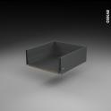 Tiroir casserolier - pour meuble de cuisine - Freiné/sortie totale - L50 x H17 x P50 cm - SOKLEO