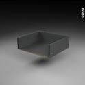 Tiroir casserolier - pour meuble de cuisine - Freiné/sortie totale - L60 x H18 x P50 cm - SOKLEO