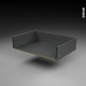 Tiroir casserolier - pour meuble de cuisine - Freiné/sortie totale - L80 x H18 x P50 cm - SOKLEO