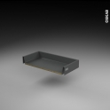 Tiroir coulissant - pour meuble de cuisine - Freiné/faible profondeur - L60 x H9 x P27 cm - SOKLEO