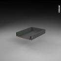 Tiroir coulissant - pour meuble de cuisine - Freiné/sortie totale - L40 x H9 x P50 cm - SOKLEO