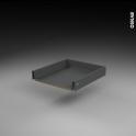 Tiroir coulissant - pour meuble de cuisine - Freiné/sortie totale - L50 x H8 x P50 cm - SOKLEO