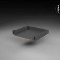 Tiroir coulissant - pour meuble de cuisine - Freiné/sortie totale - L60 x H8 x P50 cm - SOKLEO