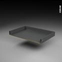 Tiroir coulissant - pour meuble de cuisine - Freiné/sortie totale - L80 x H9 x P50 cm - SOKLEO