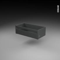 Casserolier à l'anglaise - pour meuble de cuisine - Freiné/faible profondeur - L60 x H18 x P27 cm - SOKLEO