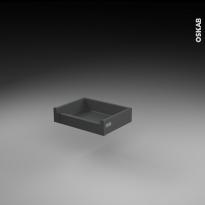 Tiroir à l'anglaise - pour meuble de cuisine - Freiné/faible profondeur - L40 x H9 x P27 cm - SOKLEO