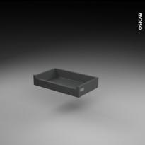 Tiroir à l'anglaise - pour meuble de cuisine - Freiné/faible profondeur - L50 x H9 x P27 cm - SOKLEO