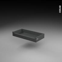 Tiroir à l'anglaise - pour meuble de cuisine - Freiné/faible profondeur - L60 x H9 x P27 cm - SOKLEO