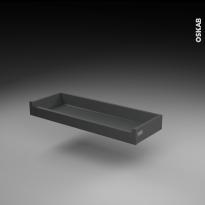 Tiroir à l'anglaise - pour meuble de cuisine - Freiné/faible profondeur - L80 x H9 x P27 cm - SOKLEO