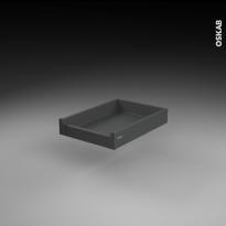 Tiroir à l'anglaise profond - pour meuble de cuisine - Freiné/sortie totale - L40 x H9 x P50 cm - SOKLEO