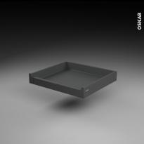 Tiroir à l'anglaise - pour meuble de cuisine - Freiné/sortie totale - L60 x H9 x P50 cm - SOKLEO