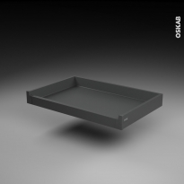 Tiroir à l'anglaise - pour meuble de cuisine - Freiné/sortie totale - L80 x H9 x P50 cm - SOKLEO