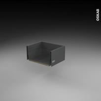Tiroir casserolier - pour meuble de cuisine - Freiné/faible profondeur - L40 x H17 x P27 cm - SOKLEO