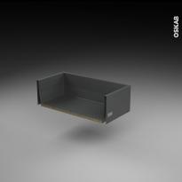 Tiroir casserolier - pour meuble de cusine - Freiné/faible profondeur - L60 x H17 x P27 cm - SOKLEO