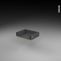 Tiroir coulissant - pour meuble de cuisine - Freiné/faible profondeur - L40 x H8 x P27 cm - SOKLEO