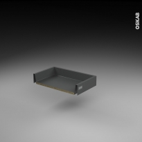 Tiroir coulissant - pour meuble de cuisine - Freiné/faible profondeur - L50 x H8 x P27 cm - SOKLEO