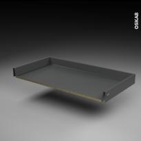 Tiroir coulissant - pour meuble de cuisine - Freiné/sortie totale - L100 x H8 x P50 cm - SOKLEO