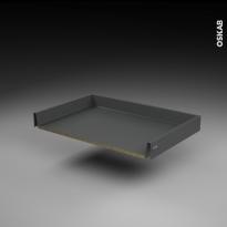 Tiroir coulissant - pour meuble de cuisine - Freiné/sortie totale - L80 x H8 x P50 cm - SOKLEO