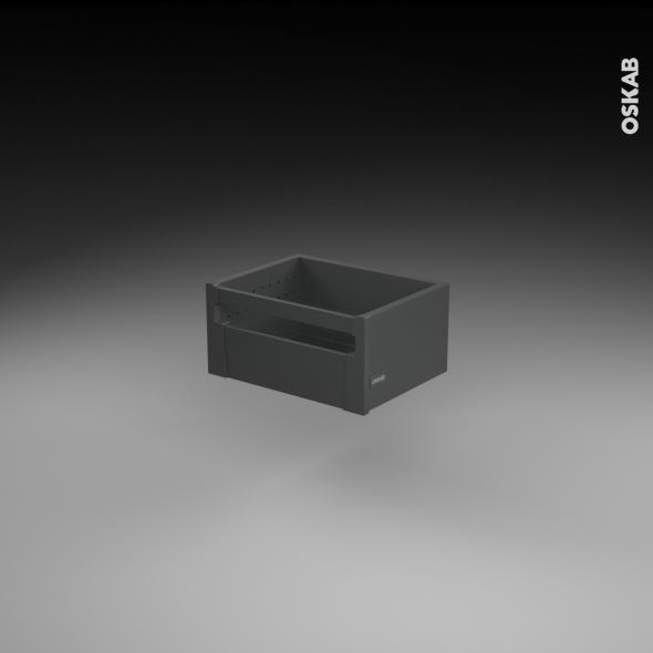 Casserolier à l'anglaise - pour meuble de cuisine - Freiné/faible profondeur - L40 x H17 x P27 cm - SOKLEO