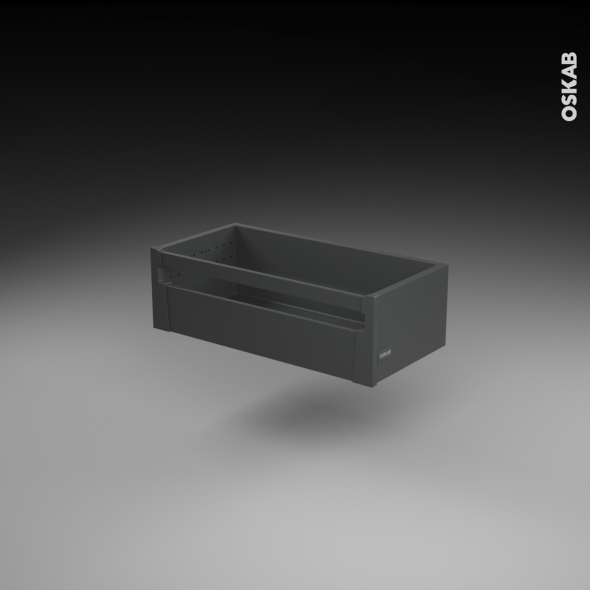 SOKLEO - Casserolier à l'anglaise - faible profondeur/freiné - L60xH17xP27