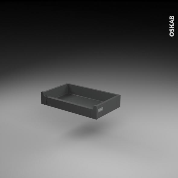 Tiroir à l'anglaise - pour meuble de cuisine - Freiné/faible profondeur - L50 x H8 x P27 cm - SOKLEO