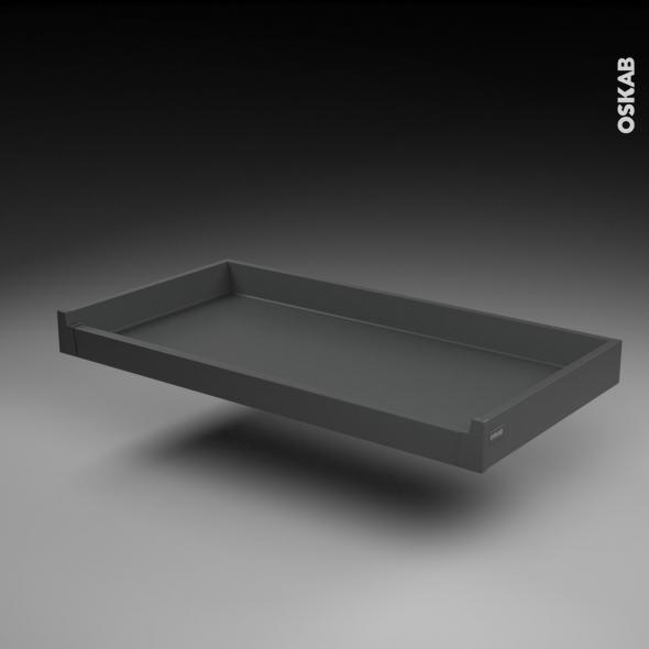 Tiroir à l'anglaise - pour meuble de cuisine - Freiné/sortie totale - L100 x H9 x P50 cm - SOKLEO