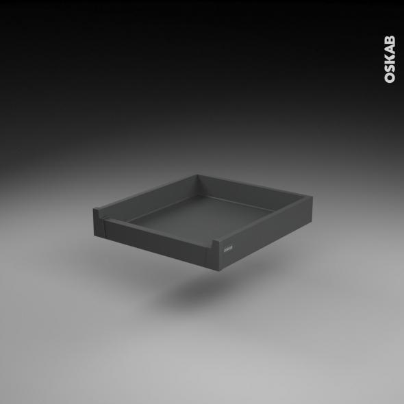 Tiroir à l'anglaise - pour meuble de cuisine - Freiné/sortie totale - L50 x H9 x P50 cm - SOKLEO