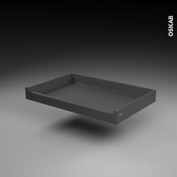 Tiroir à l'anglaise - pour meuble de cuisine - Freiné/sortie totale - L80 x H8 x P50 cm - SOKLEO
