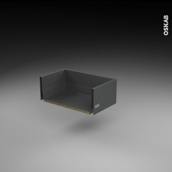 Tiroir casserolier - pour meuble de cuisine - Freiné/faible profondeur - L50 x H17 x P27 cm - SOKLEO