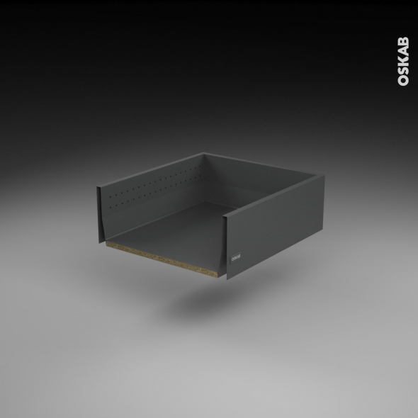 SOKLEO - Tiroir casserolier profond - sortie totale/freiné - L50xH17xP50